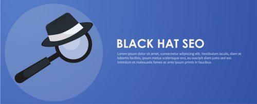 Black hat seo banner. Kan søgeord skade en hjemmeside